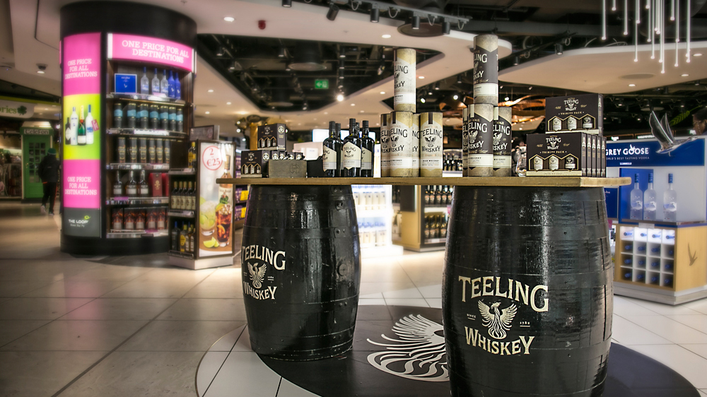 Dublin airport Teeling Whiskey