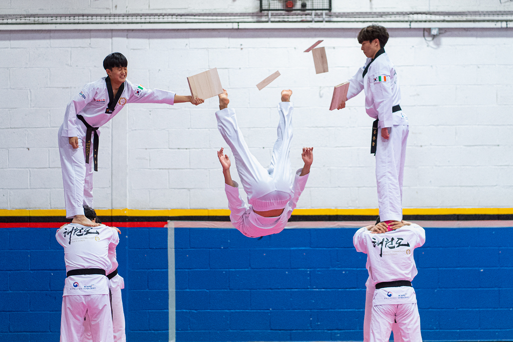 Taekwondo Peace Corps Demonstration Team in Dublin event sport photography